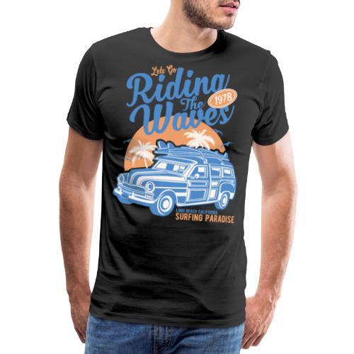 Ladies Surf Style T-shirt - Riding the Waves - Men's Premium T-Shirt