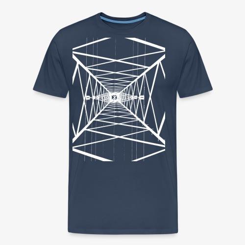 Hochmast V2 Weiß - Männer Premium T-Shirt