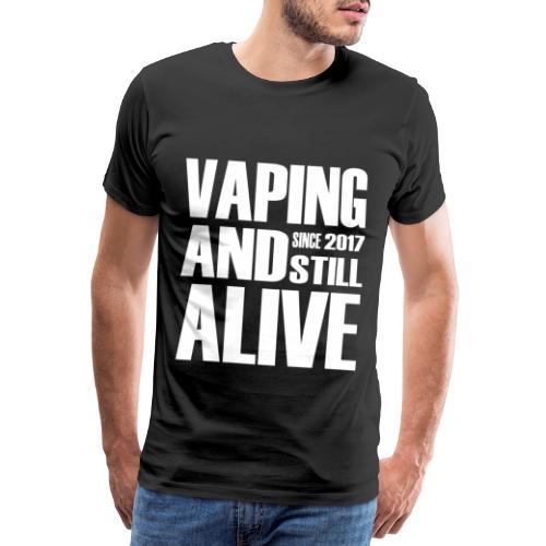 Vape Since 2017 - Mannen Premium T-shirt