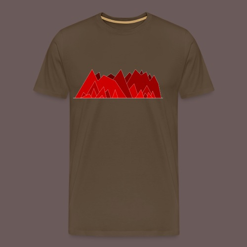 Simplistic Mountains - Herre premium T-shirt