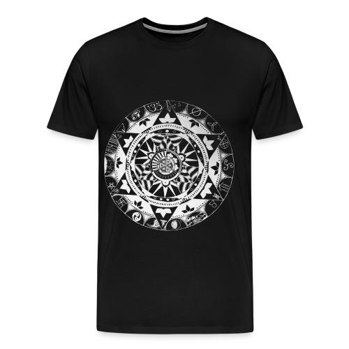 mandala1 jc white - Men's Premium T-Shirt