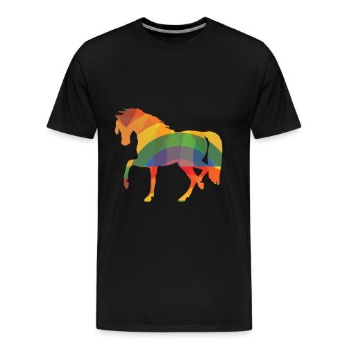 Farbiges Pferd - Männer Premium T-Shirt