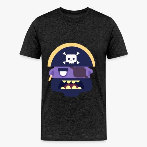 Mini Monsters - Captain Zed - Herre premium T-shirt