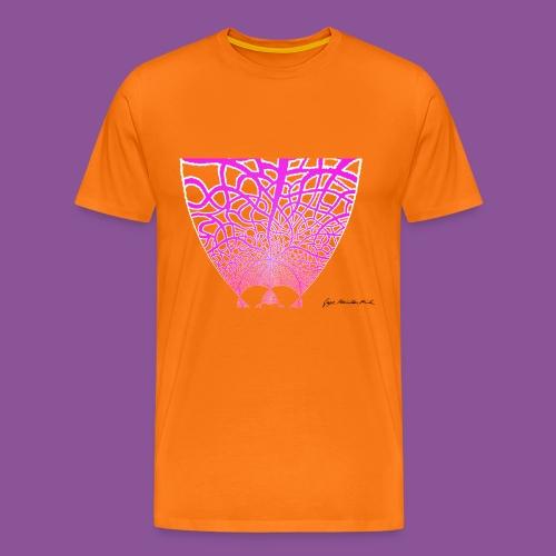 Karo mit Adern 14 1 - Männer Premium T-Shirt