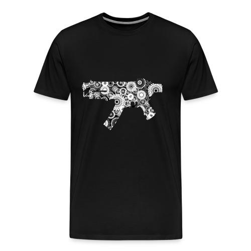 floral gun - Premium-T-shirt herr