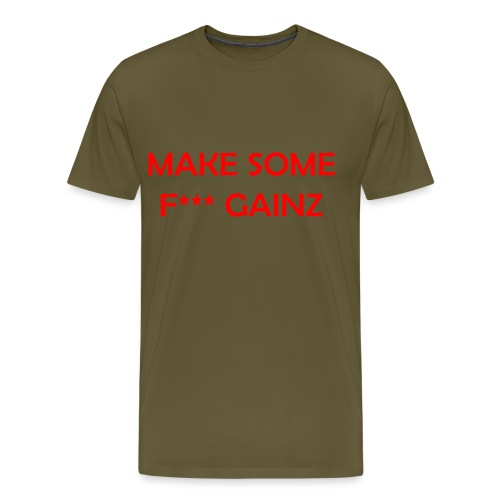 MakeSomeF *** Gainz_red - Men's Premium T-Shirt