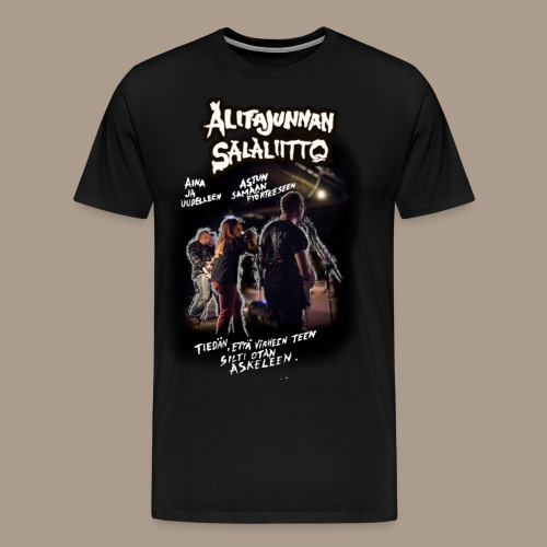 Alitajunnan Salaliitto - Voinko? - Miesten premium t-paita