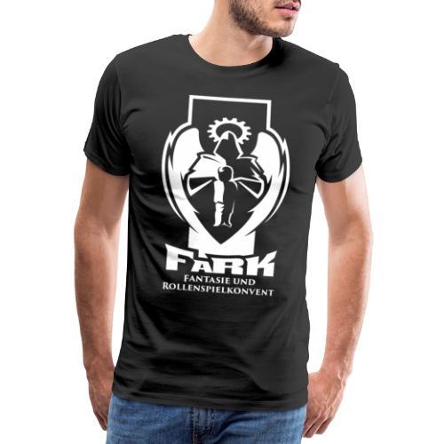 fark_logo_outline_white - Männer Premium T-Shirt