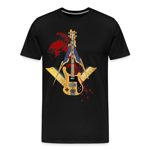 Heavy Masons Rickenbacker png - Premium-T-shirt herr