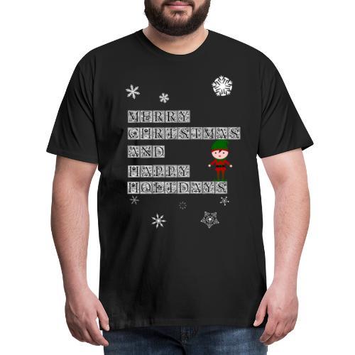 Merry Christmas Elf Geschenk für die ganze Familie - Männer Premium T-Shirt