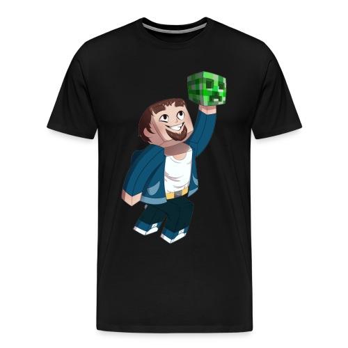 minecrafthavarddone liten png - Premium T-skjorte for menn