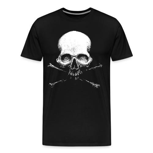Old Skull - Maglietta Premium da uomo