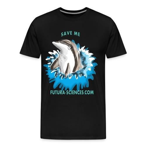 dauphin base 1 fs version 2 turquoise c - T-shirt Premium Homme