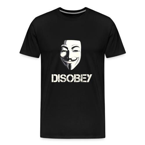 Anonymous Disobey gif - Herre premium T-shirt
