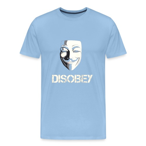 Anonymous Disobey gif - Miesten premium t-paita