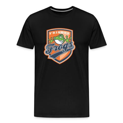 Frisbee Frogs vaakuna png - Miesten premium t-paita