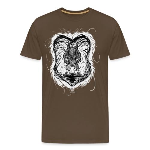 Horned Metalhead - Men's Premium T-Shirt