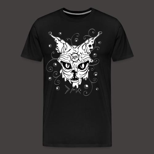 THE CAT fond noir - T-shirt Premium Homme