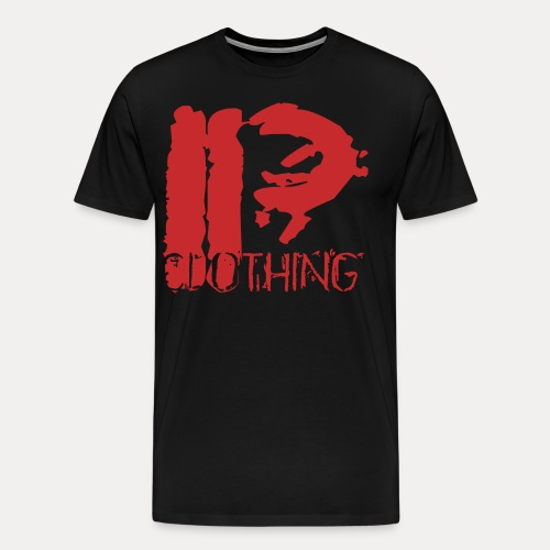 IRON PSYCHO LOGO ORIGINAL-RED - Men's Premium T-Shirt