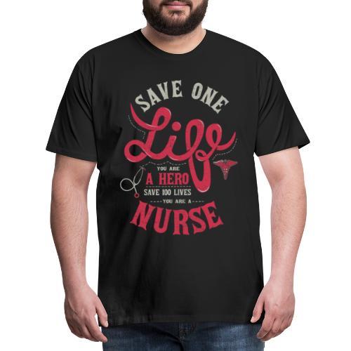 Vintage hero nurse - Miesten premium t-paita