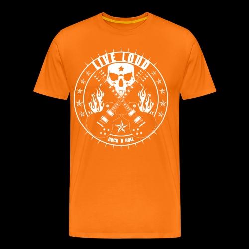 Live Loud Rock ´n´ Roll - Männer Premium T-Shirt
