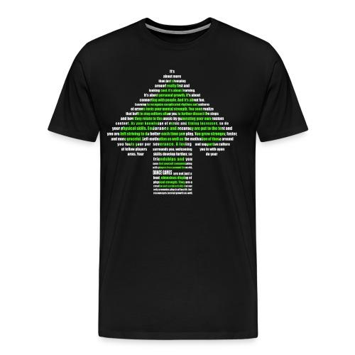 dance games green white - Männer Premium T-Shirt
