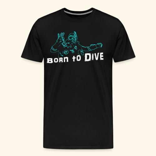 ScubaBornToDive001 - Mannen Premium T-shirt