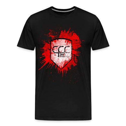 CCC Wappen grunged black red 2 - Männer Premium T-Shirt