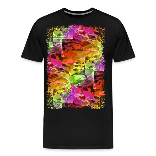 psychedelic spider web - Männer Premium T-Shirt