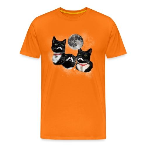 threestalinsandamoonNY png - Men's Premium T-Shirt