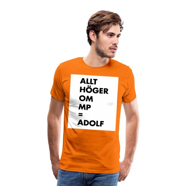 Allt höger om MP = Adolf