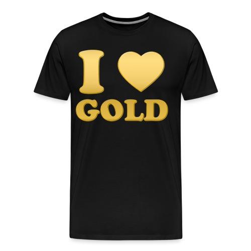i love gold glanz b - Männer Premium T-Shirt