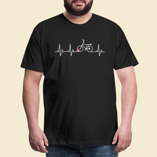 Radball   Heart Monitor White - Männer Premium T-Shirt