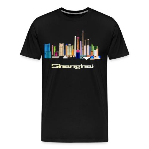 skyline Shanghai - Männer Premium T-Shirt