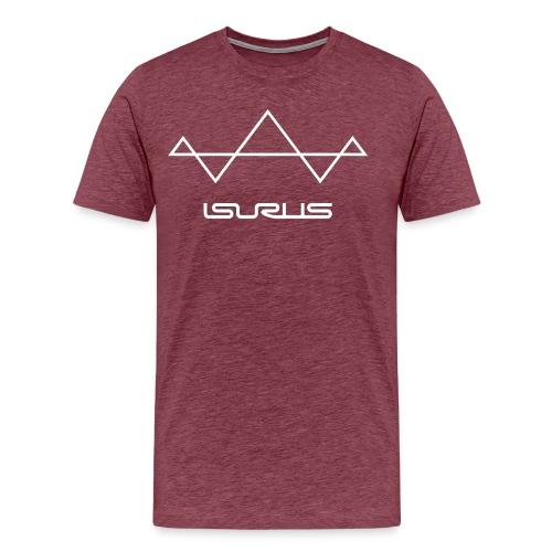 Isurus Symbol & Text Logo - Men's Premium T-Shirt
