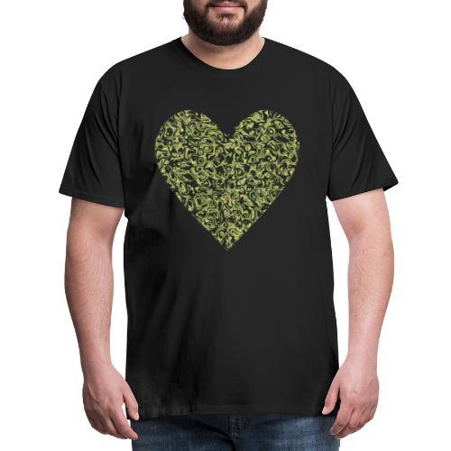 Herz abstrakt mit avocado hintergrund - Männer Premium T-Shirt