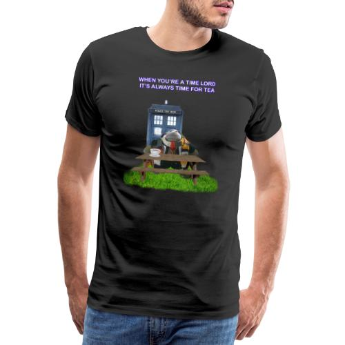 TIME AND SPACE AND TEA - Men's Premium T-Shirt