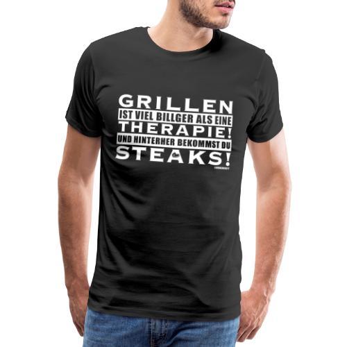 Grillen - Therapie - Steaks - Männer Premium T-Shirt