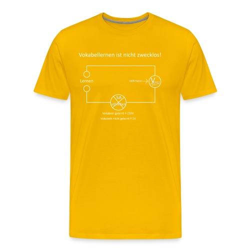 Vokabellernen ist nicht zwecklos - Men's Premium T-Shirt