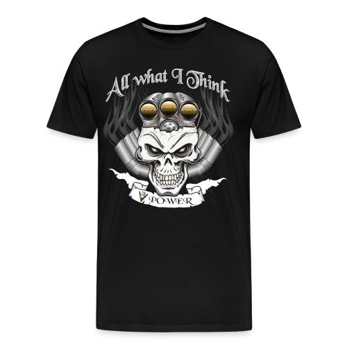 V8 Motor Skull mit Blower - Männer Premium T-Shirt
