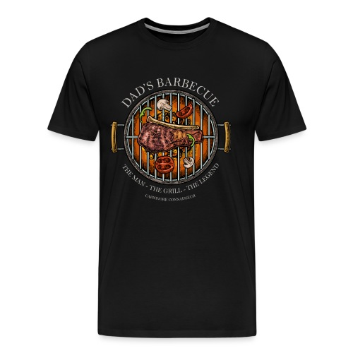 Dad's Barbecue - The man, the grill, the legend - - Männer Premium T-Shirt