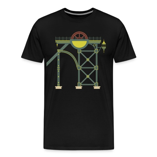 Themepark Mine Tower - Men's Premium T-Shirt