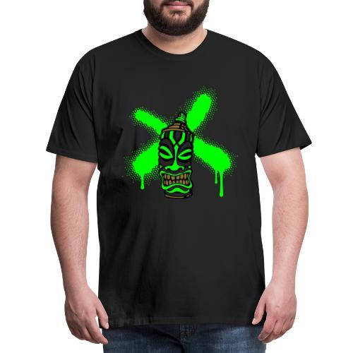 SPRAY A CROSS TIKI (P) von toneyshirts.de - Männer Premium T-Shirt