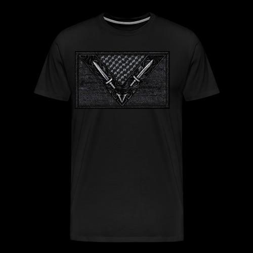 Vegan Battle Flag - Männer Premium T-Shirt