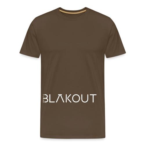 Bläkout -logo valkoinen - Miesten premium t-paita