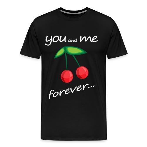 YouandmeForever_Cherries_trasparent - Maglietta Premium da uomo