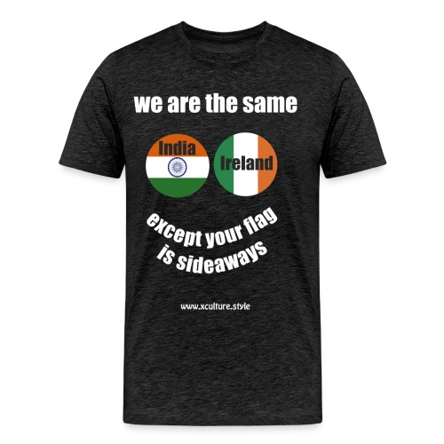 india ireland circles white text png - Men's Premium T-Shirt