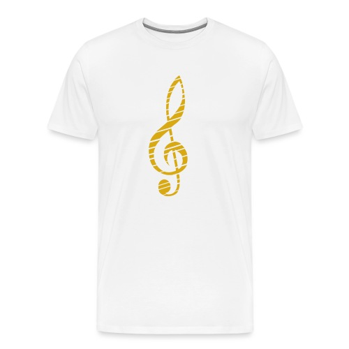 Goldenes Musik Schlüssel Symbol Chopped Up - Men's Premium T-Shirt