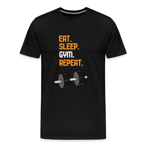 Eat. Sleep. Gym. Repeat - Männer Premium T-Shirt
