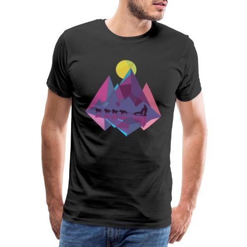 Schlittenhund Schlitten Huskey Hunde Schlitten - Männer Premium T-Shirt